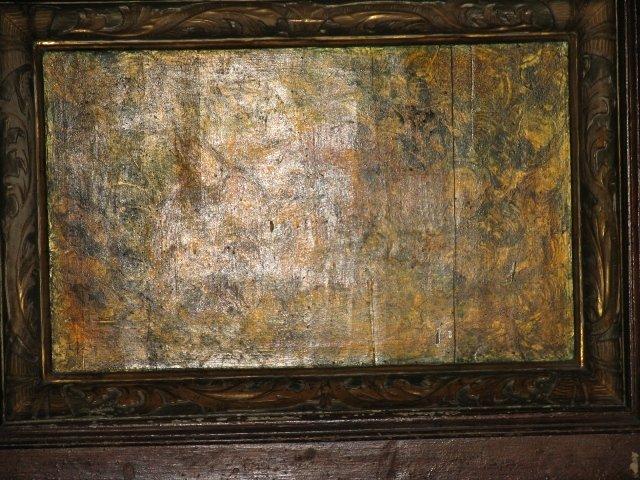 Barokowe antepedium z ołtarza MB Niepokalanej /przed konserwacją/