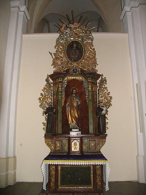 Barokowy ołtarz pw. Najśw. Serca Pana Jezusa /przed konserwacją/