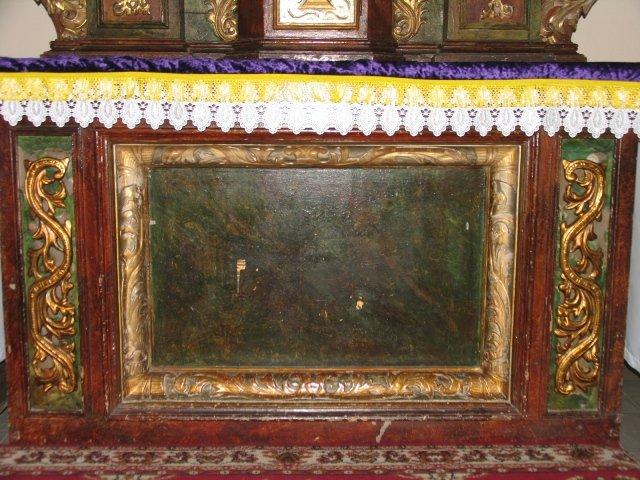 Barokowe antepedium z ołtarza Najśw. Serca Pana Jezusa /przed konserwacją/