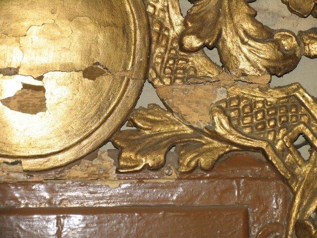 Uszkodzenia pochromii barokowego sakramentarium
