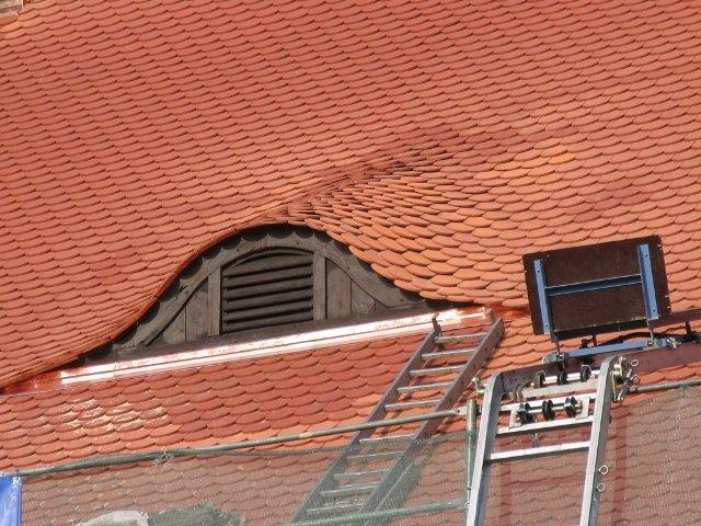 Odtworzone zostały tzw. wole oczka w dachu